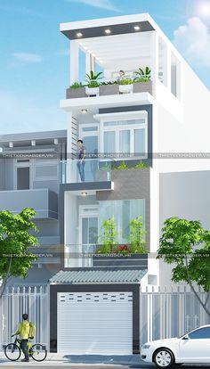 Với thiết kế 3 phòng ngủ, gara xe rộng rãi mẫu nhà phố 1 trệt 2 lầu 1 sân thượng có gara sẽ là lựa chọn hoàn hảo cho các gia đình có đông thành viên.