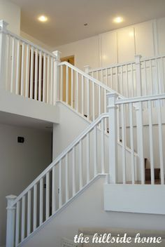 painted white stairs