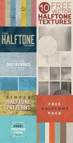 #free #halftone #texture #packs