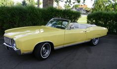 1972 Chevrolet Monte Carlo...the convertible top makes a beautiful car all the more spectacular.