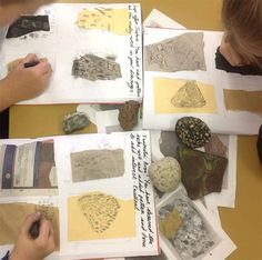 Year 3 Rocks and Fossils. Art Rooms in KS1&2 Schools: Battyeford Primary School at www.accessart.org.uk