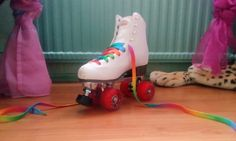 Mes patins à roulettes multicolores!!