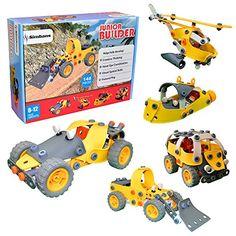 Junior Builder [148 pcs] DIY Construction flexible Ingénierie Set jouet pour enfants, construire et d'imitation Educational Stacking Kit…