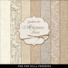 "New Freebies Kit of Paper - ""Autumn Linen"""