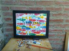 Retrouvez cet article dans ma boutique Etsy https://www.etsy.com/fr/listing/523055943/banc-de-sardines-sur-papier