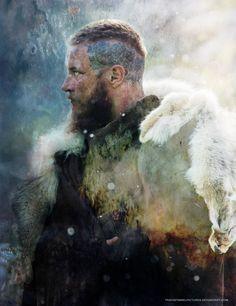 Ragnar Lothbrok Haircut, Ragnar Lothbrok Vikings, Arm Tattoo Viking, Viking Quotes, Vikings Tv Series, Travis Fimmel, Lagertha Hair, Viking Hairstyles, Cool Art