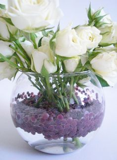 #Deco_Dots by #burtonandburton #weddings #brides #arrangements #floral_supplies #white_roses #DIY #crafts #centerpieces #color