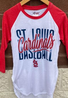 St Louis Cardinals Womens White Tailgate Raglan LS Tee - 9431262 Stl Cardinals, St Louis Cardinals, Great Books, Saints, Tees, Long Sleeve, T Shirt, Shopping, Women