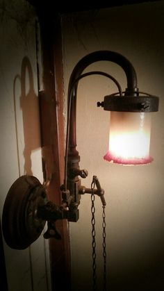 gas lamp small gas lamp of bray red is painted shade with knob rh pinterest com Lamp Socket Wiring Diagram Lamp Socket Wiring Diagram