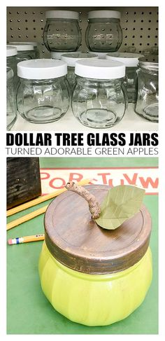 How to Make Green Apples From Dollar Tree Jars