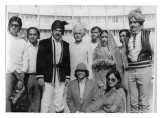 And what a legendary lineup of Bollywood giants! Amitabh Bachchan, Shakti Samanta, Dharmendra, Rajesh Khanna, Hema Malini, Vinod Khanna, Vijay Anand, and Ranjita Kaur, for the muhurat of 'Rajput' (1982). The certainly don't come any bigger, and better, than these. Wow indeed.
