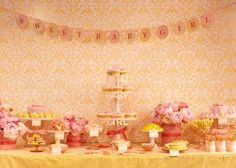 The TomKat Studio: {Inspired By} Gorgeous Pink & Yellow Dessert Table by Amy Atlas!
