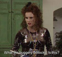 Jennifer Saunders as Edina Monsoon in Absolutely Fabulous British Sitcoms, British Comedy, Absolutely Fabulous Quotes, Edina Monsoon, Patsy And Edina, Patsy Stone, Exercise For Six Pack, Jennifer Saunders, Joanna Lumley