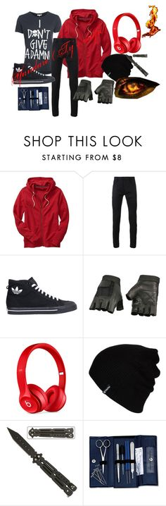 """Yandare (Ty's outfit)"" by eyeless-angel-of-death ❤ liked on Polyvore featuring Gap, Haider Ackermann, adidas, Beats by Dr. Dre, Hurley, men's fashion and menswear"