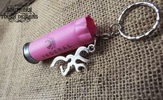 This listing is for one pink Federal 12 gauge keychain with deer charm! This would make a lovely gift for any guy or gal!  ►10% of profit