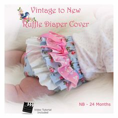 Ruffle Bum Diaper Cover PDF Sewing Pattern with Video Tutorial Baby Toddler Nappy Beginner NB 3 6 9 12 18 24 months Boys Sewing Patterns, Baby Girl Dress Patterns, Kids Clothes Patterns, Cloth Patterns, Baby Patterns, Frock Patterns, Blanket Patterns, Mccalls Patterns, Crochet Patterns