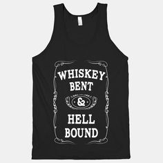 Hank Williams Jr --- Whiskey Bent, Hell Bound (American Apparel Tank Top)