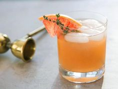 The herbal, smokey, and bitter notes are perfectly balanced in this delicious cocktail, Whiskey Thyme.