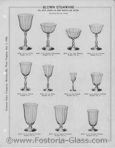 Fostoria No. 6016 LINE-16 RIB REGULAR OPTICBLOWN STEMWARE No. 6016 LINE-16 RIB REGULAR OPTIC 6016-10 oz. Goblet 6016-6 oz. Saucer Champagne 6016-6 oz. Low Sherbet 6016 3 1/2 oz. Cocktail Height 7 5/8 in. 6016-4 1/2 oz. Claret Height 6 in. 6016-3 1/4 oz. Wine Height 51/4 in. 6016-3 /4 oz. Cordial 6016-4 oz. Oyster Cocktail Height 3 7/8 in. 6016-13 oz. Footed Tumbler 6016-10 oz. Footed Tumbler Height 5 3/8 in. 6016-5 oz. Footed Tumbler