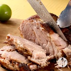 Fragrant, savory, and succulent pork roast the whole family will love. Serve with cumin scented black beans, and mashed sweet potatoes. Cuban Pork Roast, Pork Roast Recipes, Meat Recipes, Mexican Food Recipes, Dinner Recipes, Cooking Recipes, Cooking Hacks, Italian Recipes, Game Recipes