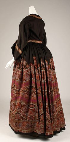 Wrapper, 1854, American, wool, back view