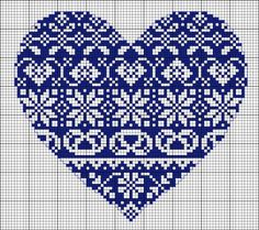 Cross Stitch Design Cross Stitch Heart Pattern (Free Embroidery Pattern) - This gorgeous cross-stitch pattern would look lovely no matter where you place it, on a pillow in multiples, a tea towel or on a pocket. Embroidery Hearts, Embroidery Patterns Free, Cross Stitch Embroidery, Embroidery Designs, Embroidery Thread, Embroidery Tattoo, Embroidery Software, Indian Embroidery, Crochet Motifs