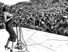 United Service Organizations - Marilyn Monroe performing in Korea, 1954