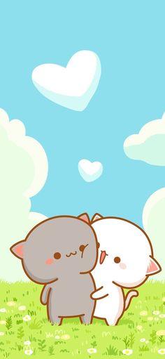 44 Ideas cats cute wallpaper kawaii for 2019 Cat Wallpaper, Kawaii Wallpaper, Cute Wallpaper Backgrounds, Wallpaper Awesome, Cute Love Pictures, Cute Love Gif, Chibi Cat, Cute Chibi, Cute Characters