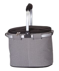 Look at this #zulilyfind! Houndstooth Shelby Collapsible Cooler Tote #zulilyfinds