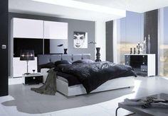 Die 9 besten Bilder von Schlafzimmer schwarz/weiss   Bedrooms, Home ...