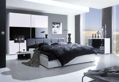 Black and White Bedroom Interior Ideas