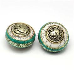 Handmade Tibetan Style BeadsTIBEB-K023-14A-1
