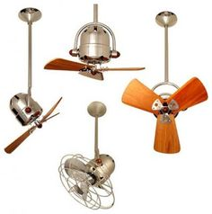 Directional Ceiling Fan - Maybe there is a fan I can tolerate the looks of!  Bottom is my fav