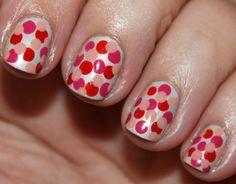 Valentine's Day Polka Dot Manicure