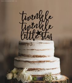 Twinkle Twinkle Little Star Cake Topper Twinkle by CFWeddings