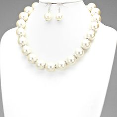 PEARL RHINESTONE ACCENTED NECKLACE SET $40 Price Includes Earrings ---------- #WeddingJewelry #EastCoastOccasions #TheWeddingBoutique #Affordable #Timeless #Elegant #WeddingParty #Bridesmaids #BridalCollection #ElegantNecklace #PearlAndDiamonds #PearlNecklace #PearlEarrings #BridalNecklace#BridesmaidsNecklace #Necklace #WeddingGuests #BridalJewelry EastCoastOccasions.com
