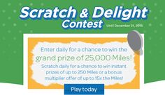 Airmiles Contest: Win 25,000 Miles + Instant Prizes!
