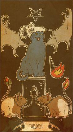 Midio. The Devil. Card #15 of the Muroidea Rat Tarot.