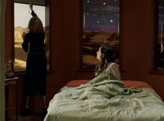 It is almost hard to tell they are shades!  The printed landscapes reveals an actual landscape through the window when these shades are rolled all the way up in the film Penelope, starring Christina Ricci!