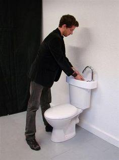 Kraan en wc in een