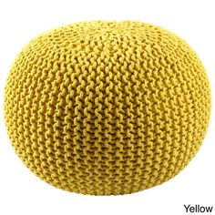 Cotton Rope 16-inch Pouf Ottoman | Overstock.com 18 inches long x 18 inches wide x 16 inches high