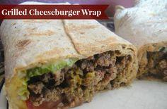 Lightened up cheeseburger wrap recipe.