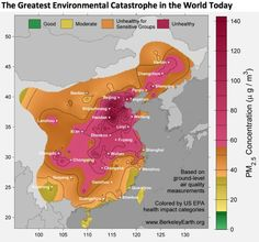 China PM air pollution map
