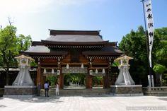A shrine in Kobe near the port area.