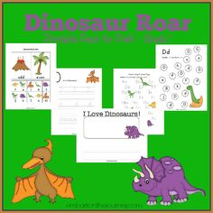Your dinosaur fans will roar over this FREE printable for PreK-Grade 1! | embarkonthejourney.com
