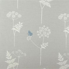 Vanessa Arbuthnott Cow Parsley - Clay, Cornflower. 60% linen 40% organic cotton. £46 pm