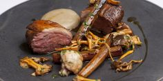 Richard Corrigan serves pan-roasted lamb rump with a number of delightful accompaniments, including wild mushrooms, salsify and Jerusalem artichoke purée