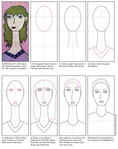 I've made a Modigliani self portrait tutorial in hopes that it encourages more to try it out. It's been a favorite of mine for years now.