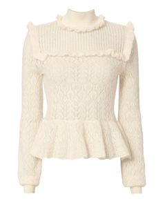 Exclusive for Intermix Lila Pointelle Sweater Pink Long Sleeve Tops, Long Sleeve Sweater, Fall Outfits, Cute Outfits, Fashion Outfits, Runway Fashion, Fashion Trends, Outfit Elegantes, Sheer Dress