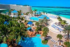 Sheraton Beach, Nassau, Bahamas.  The sand is so soft and fluffy.